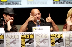 Reposoir -  David Twohy and Vin Diesel speaking at the 2013 San Diego Comic Con International, for