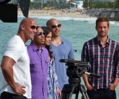 Reposoir - English: Fast Five cast (Paul Walker, Vin Diesel, Jordana Brewster, Ludacris & the Rock: Dwayne Johnson) pre-interview.