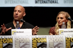 Reposoir -  Vin Diesel and Katee Sackhoff speaking at the 2013 San Diego Comic Con International, for