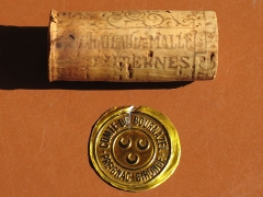 Château de Malle - English: Cork and capsule of the wineyard château de Malle (Gironde, France).