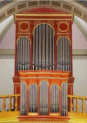 Eglise Saint-Vincent -  L'orgue de l'Eglise St Vincent de Preignac en Gironde, construit en 1864 par Georges Wenner & Jean-Jacob Götty,  restauré et agrandi par Bernard Cogez