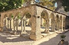 Ancien couvent des Cordeliers - Français:   Le cloître des Cordeliers, à Saint-Emilion (France), classé UNESCO