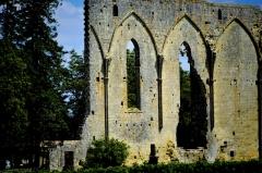 Ancienne église du couvent des Dominicains, dit des Jacobins - English:   Ruins in the town of Saint-Émilion.