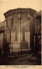 Ermitage ou Chapelle de la Trinité - Français:   Saint-Emilion sur carte-postale