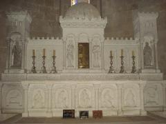 Ancienne église des Bénédictins - English: Saint-Ferme (Gironde, Fr) altar of the abbey's church