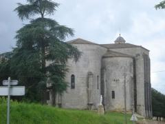Ancienne église des Bénédictins - English: Saint-Ferme (Gironde, Fr), backside of the church of the abbey
