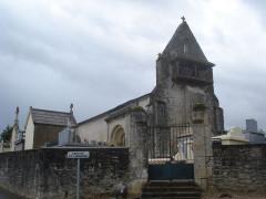 Eglise - English: Saint-Hilaire-de-la-Noaille (Gironde, Fr), church and churchyard