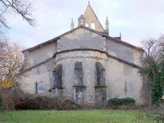 Eglise Saint-Léger - Français:   Chevet de l\'église de Saint-Léger-de-Balson (Gironde, France)