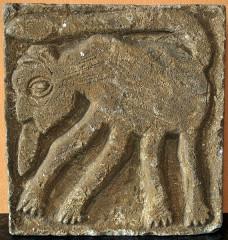 Ancien cloître - Français:   Saint-Macaire ancien bas-relief