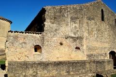Ancien cloître - Français:   Saint Macaire église St Sauveur