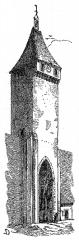 Enceinte fortifiée de la Ville - Français:   Porte de Benauge à Saint-Macaire (Gironde, France)