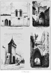 Enceinte fortifiée de la Ville - Français:   Remparts de Saint-Macaire (Gironde, France)