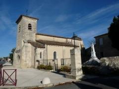 Eglise - Français:   Eglise de Saint-Martin-Lacaussade, Gironde, France