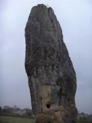 Menhir de Peyrefitte ou de Pierre Fitte -  Menhir de Pierrefitte in Saint-Sulpice-de-Faleyrens (Gironde - FRANCE)