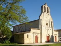 Eglise Saint-Alexis -  photographie de l'église St Alexi à Sainte-Terre en Gironde. France.