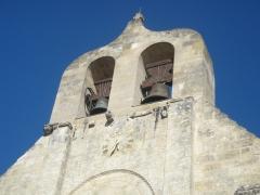 Eglise Saint-Alexis -  photographie du clocher de l'église St Alexi à Sainte-Terre en Gironde. France.