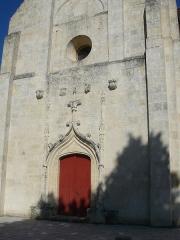 Eglise Saint-Alexis -  photographie de la porte de l'église St Alexi à Sainte-Terre en Gironde. France.