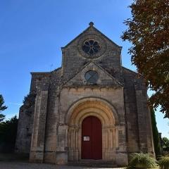 Eglise Saint-Vincent - Français:   Église Saint-Vincent à Villeneuve (Gironde). Façade occidentale