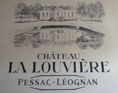 Château La Louvière - English: Mural at the entrace of the cellar of Château La Louvière, similar artwork to that used on their wine labels
