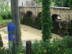 Pont de la Bassanne dit aussi pont médiéval des Antonins - English: Bassanne river at Pondaurat (Gironde, Fr)