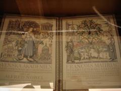 Domaine de Malagar, actuel centre culturel François Mauriac - English: Diploma of François Mauriac, Nobel Laureate for Literature 1952.