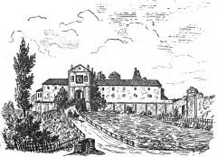 Ancien château - Deutsch: Ansicht des östlichen Wirtschaftsflügels von Schloss Lormont