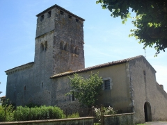Eglise Sainte-Marie - English: Church of Bostens (Landes, Fr)