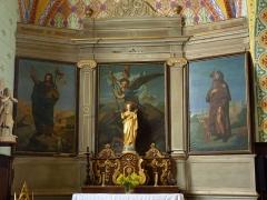 Eglise Saint-Martin -  Autel du collatéral gauche de l'église Saint-Martin de Caupenne