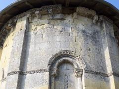 Eglise Saint-Martin -  Corniche à billettes de l'église Saint-Martin de Caupenne