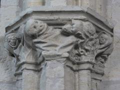 Eglise de Sainte-Catherine -  Chapiteau de l'église Sainte-Catherine de Montaut