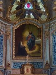 Eglise de Sainte-Catherine -  Montaut (Landes, France), église Sainte Catherine, détail du retable du Sacré-Cœur sis dans le collatéral gauche.