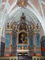 Eglise de Sainte-Catherine -  Montaut (Landes, France), église Sainte Catherine, retable du Sacré-Cœur sis dans le collatéral gauche.