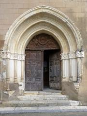 Eglise de Sainte-Catherine -  Portail de l'église Sainte-Catherine de Montaut (Landes)