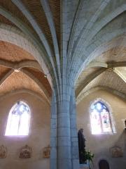 Eglise de Sainte-Catherine -  Retombées d'ogives avec voutes en brique et en pierre - église Sainte-Catherine de Montaut