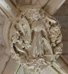 Eglise de Sainte-Catherine -  Sainte Catherine - Clef de voute de l'église Sainte-Catherine de Montaut