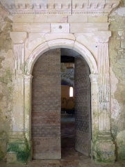 Eglise Saint-Pierre de Brocas -  Portail de la nef de l'église Saint-Pierre de Brocas