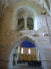 Eglise Saint-Pierre de Brocas -  Dessous du clocher - église Saint-Pierre de Brocas