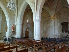 Eglise Saint-Pierre de Brocas -  Vue transversale - église Saint-Pierre de Brocas