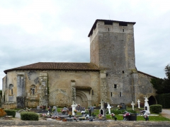 Eglise Saint-Pierre de Brocas -  Façade nord de l'église Saint-Pierre de Brocas