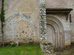 Eglise Saint-Pierre de Brocas -  Anciennes ouvertures de l'église Saint-Pierre de Brocas