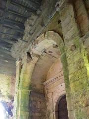 Eglise Saint-Pierre de Brocas -  Portail monumental de la nef de l'église Saint-Pierre de Brocas