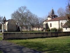 Ancienne église Notre-Dame - Français:   Les deux églises de Moustey (Saint Martin à gauche, Notre-Dame à droite) dans le département français des Landes