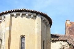 Eglise Saint-Barthélémy - Français:   Eglise de Pimbo - Corniche de l\'abside