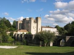 Pont roman -  Befestigte Mühle von Barbaste (13.Jh.) mit romanischer Brücke über die Gélise (12.Jh.)    Frankreich, Region Aquitanien, Département Lot-et-Garonne, Gemeinde Barbaste