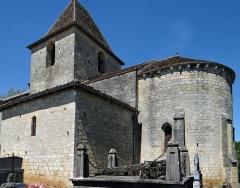 Eglise Saint-Sardos de Laurunque - Français:   Gavaudun - Église Saint-Sardos de Laurenque - Ensemble vu du chevet