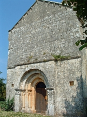 Eglise Saint-Sardos de Laurunque - Français:   Gavaudun - Église Saint-Sardos de Laurenque - Façade occidentale