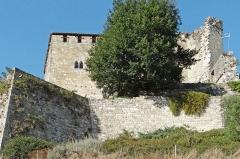 Ruines du château féodal - Français:   Château de Madaillan - Enceinte
