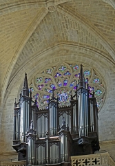 Eglise Notre-Dame et son cloître -  Marmande (Lot-et-Garonne, France), Notre-Dame church, pipe organ built by Aristide Cavaillé-Coll in 1859, repaired and augmented by Maurice Puget in 1936, restored and completed with an independent pedal by Jean Daldosso in 1998.