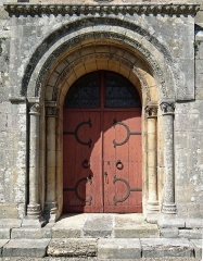 Eglise Saint-Géraud - Français:   Monsempron-Libos - Église Saint-Géraud - Portail latéral sud