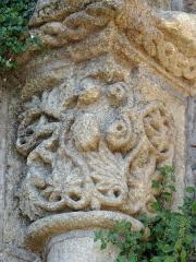 Eglise Saint-Géraud - Français:   Monsempron-Libos - Église Saint-Géraud - Absidiole sud - Chapiteau